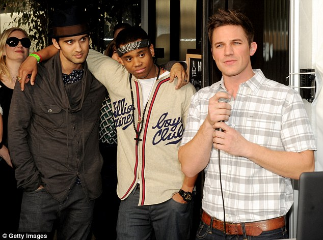 Here come the boys: Michael Steger, Tristan Wilds and Matt Lanter looked emotional as they remembered their last four years working on the hit show