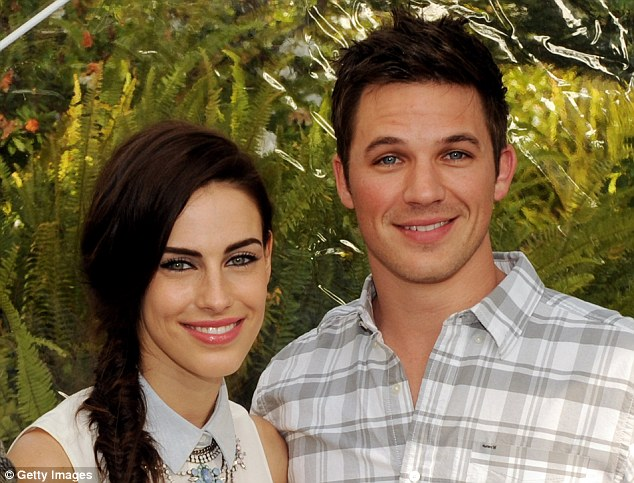 Bye bye, Adrianna and Liam: Jessica Lowndes and Matt Lanter seemed happy and relaxed as they said a final farewell to their dramatic 90210 characters